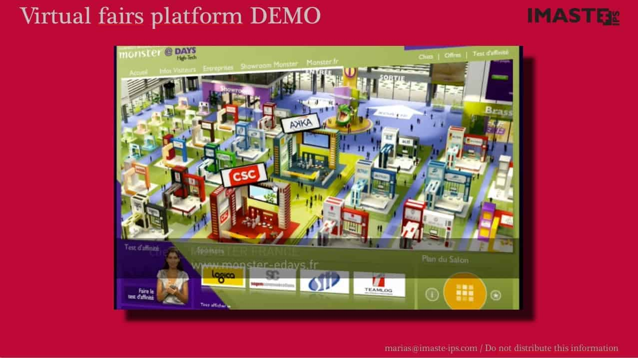 Virtual fairs platform. VC pitch